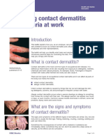 Preventing Dermatitis at work
