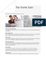 Steps in the Home Loan Process