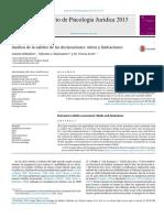 Análisis de la validez de las declaraciones (SVA y CBCA)