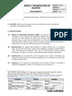 Pps0821 Limpieza y Desinfeccion de Equipos