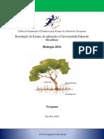 Resolução de Exame de Biologia-2016 de Admissão à Universidade Eduardo Mondlane
