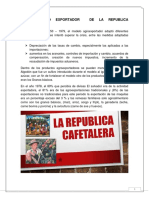 Modelo de Agroexportaciones en La Republica Cafetalera en c.a y s.a Caracteristicas y Consecuencias Economicas Politicas Sociales en El Salvador