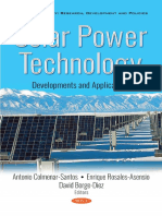 Solar Power Technology Developments and Applications