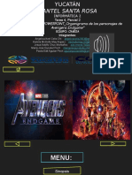 TAREA 4 Avengers End Game
