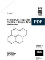 Formation Decomposition and Cracking of Biomass Tars