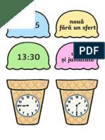 Citeste Ceasul de Pe Cupele de Inghetata Activitate