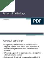 Structura raportului psihologic