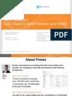 Firmex Webinarduediligencebestpracticesandpitfalls2 130501132217 Phpapp02