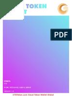 Cloud Token Wallet Whitepaper released 5-12-2019