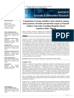 Comparison of Serum Oxidative Stress Markers Among