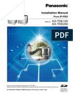 KX-TDE200 Installation Manual