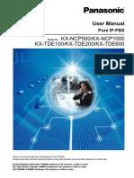 KX-TDE200 User Manual