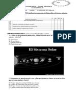 Evaluacion Sistema Solar Tercero