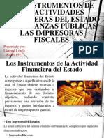 Los Instrumentos de Las Actividades Financieras Del Estado