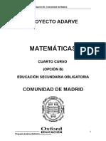 Matematicas 4 b Comunidad de Madrid Adarve