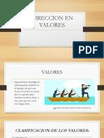 DIRECCION EN VALORES.pptx