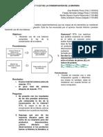 PRACTICA N° 9 LEY DE LA CONSEVACIÓN DE LA MATERIA