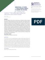 Educação Física e Saúde Na Escola - Artigo