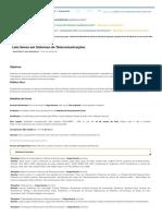 Pós-graduação a Distância Em Sistemas de Telecomunicações _ ESAB - EAD