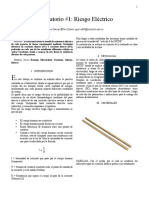 Informe Laboratorio 1 RIESGO ELECTRICO