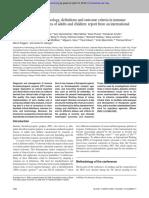 Standardization of Terminology Hematology 2010