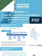 Informe Procesos Disciplinarios 2015 2016 2017