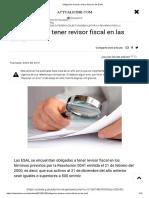 Obligación de Tener Revisor Fiscal en Las ESAL