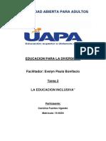 TAREA 2 EDUCACIÓN PARA LA DIVERSIDAD