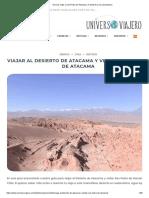 Guia de Viaje a San Pedro de Atacama, El Desierto y Sus Alrededores