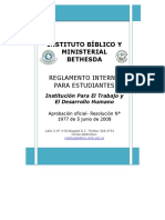 Reglamento Interno Para Estudiantes Ibmb