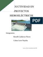 Productividad en Proyectos Hidroeléctricos