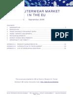 Estudio de mercado EU Ropa de algodón