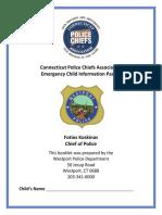 Child Emergency Packet