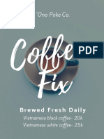 Ono Poke Co. Coffee Fix