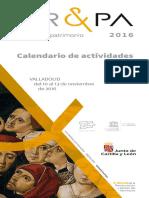 Calendario de Actividades AR&PA 2016 2