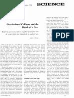 Kip Thorne Journal Gravitational Collapse Death of Star