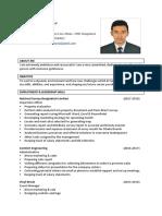 Tahamid Bhuiya Resume
