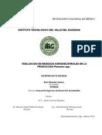 Evaluacion de cinco cepas Pleurotus en residuos agroindustriales