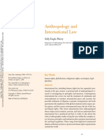 Anthropology and international law