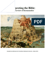 Interpreting the Bible an Overview of He