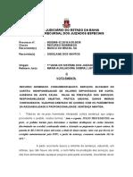 1 G 0002968-12.2016.8.05.0039 VOTO EMENTA CONSUMIDOR BANCO BLOQUEIO CARTÃO CONTA FALHA PREST SERVIÇO DANOS MORAIS IMPROV.doc