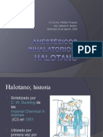 Anestésicos inhalatorios. HALOTANO