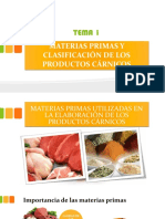 1.1 Materias Primas Utilizadas en Productos Cárnicos
