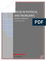 mcqs of inorganic and physical Chemistry by Malik Xufyan