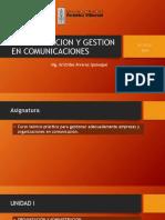 administracion y gestion en comunicaciones