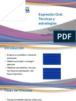 COE Expresion Oral, Técnicas y estrategias .ppsx