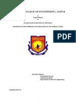 Project Report aurdino based
