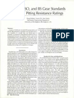 pitting resistance rating in AGMA, ISO and BS