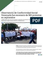 Observatorio de Conflictividad Social_ Venezuela fue escenario de 983 protestas en septiembre.pdf