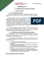 Información Principios y Elementos de Control Interno - SESION 02 - 2016